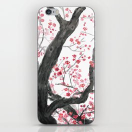 red plum flower forest iPhone Skin