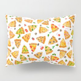 Watercolor Pizza Fast Food Pattern Pillow Sham