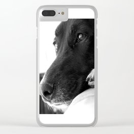Mad Dog Longs for the Outdoors II Clear iPhone Case