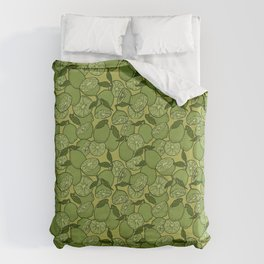 Lime Greenery Duvet Cover