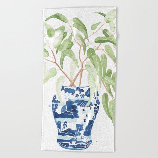 Ginger Jar + Eucalyptus Beach Towel