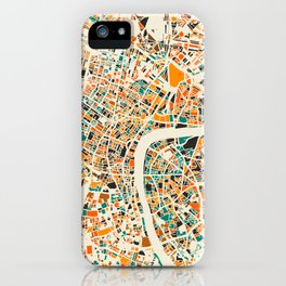 London Mosaic Map #4 iPhone Case