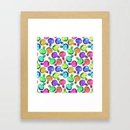 Multicolor Watercolor Bottles! Framed Art Print