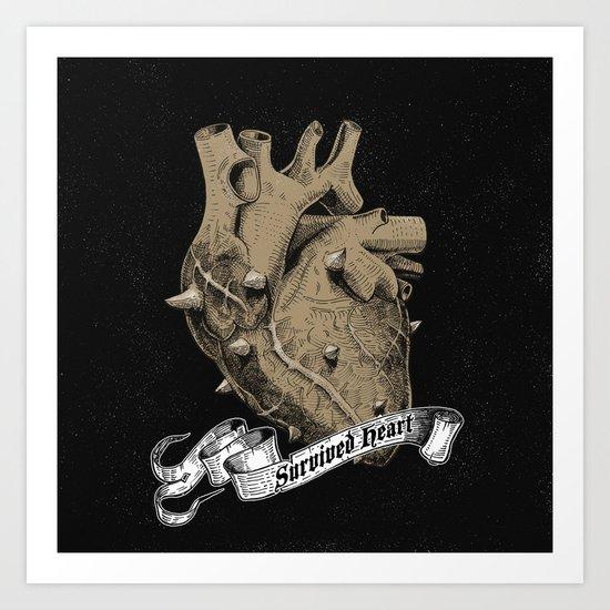 a heart that survived Art Print