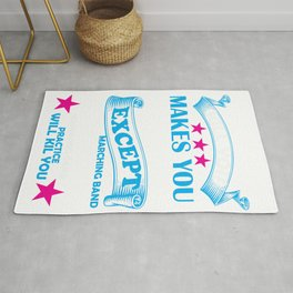 Marching Band Music Director Design Rug