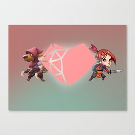 Heart Shaped Valentine Canvas Print