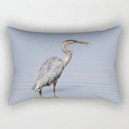 Great Blue Heron Fishing - II Rectangular Pillow