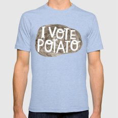 I VOTE POTATO Mens Fitted Tee Tri-Blue MEDIUM