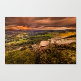Sunset at Hathersage Canvas Print