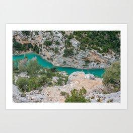 Blue river in France Art Print