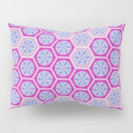 Hexagonal Dreams - Pink & Purple Pillow Sham
