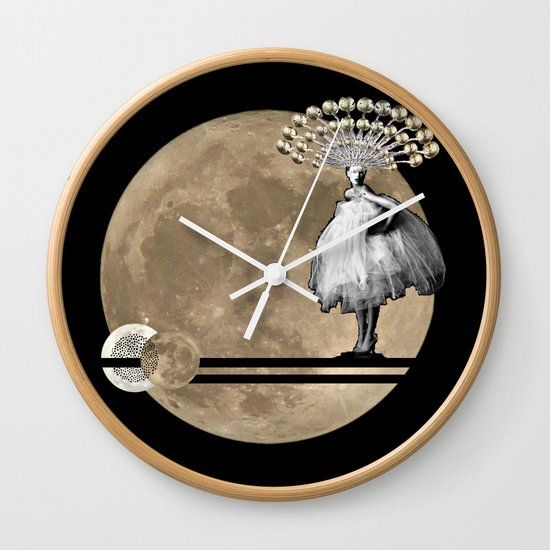 Moon. Child. Wall Clock