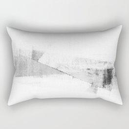 Grey and White Minimalist Geometric Abstract Rectangular Pillow