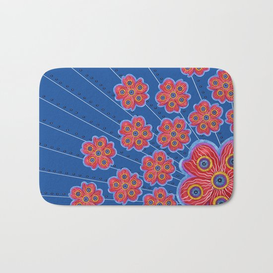 A Lot of Red Flowers Bath Mat