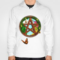 pagan Hoodies featuring Oasis Pagan Folk Art by BohemianBound