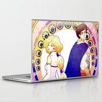 art nouveau Laptop & iPad Skins featuring Art Nouveau by Golden Crown