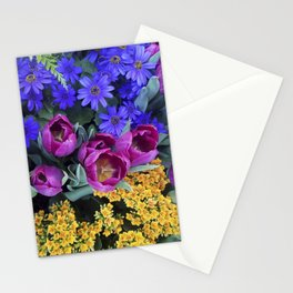 Floral Spectacular: Blue, Plum and Gold - Olbrich Botanical Gardens Spring Flower Show, Madison, WI Stationery Cards