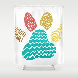 Puppy Paws Shower Curtain