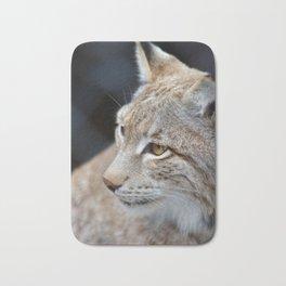 Young lynx close-up portrait Bath Mat