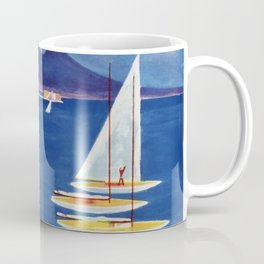 Napels Italy retro vintage travel ad Coffee Mug
