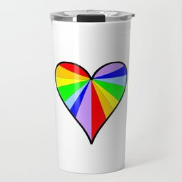 heart and color 6-love,romantism,romantic,cute,beauty,tender,tenderness Travel Mug