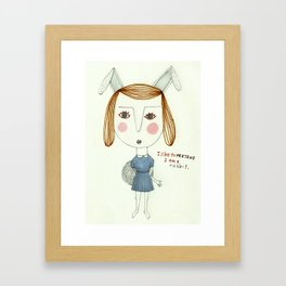 The Great Rabbit Pretender. Framed Art Print