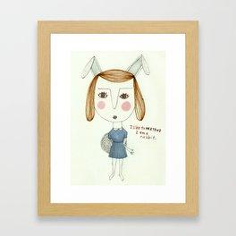 The Great Rabbit Pretender. Framed Art Print