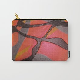 80s Retro Glow Gloss Neon Tiger Camo Carry-All Pouch