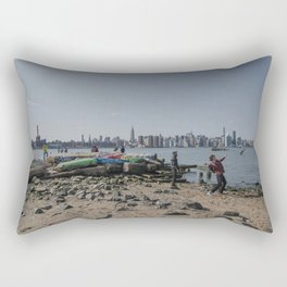Abandoned Manhattan Rectangular Pillow