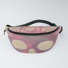 A Skeleton With A Bouquet Of Flowers Fanny Pack