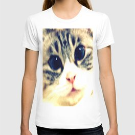 My name is chill of pink nose and blue eyes. I Love Cat. (Clear) T-shirt