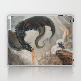 Black Battle Dragon Laptop & iPad Skin