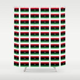 flag of libya-Libyan,Tripoli,benghazi,misurata,bayda,cyrenaica Shower Curtain