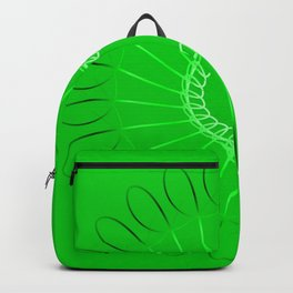 Spirographs lilac on a green background. Backpack