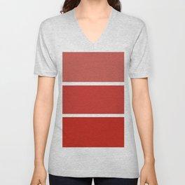 Fiery Red Unisex V-Neck