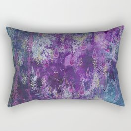 nocturnal bloom Rectangular Pillow