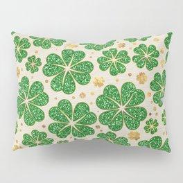 Lucky Shamrock Four-leaf Clover Pattern Pillow Sham