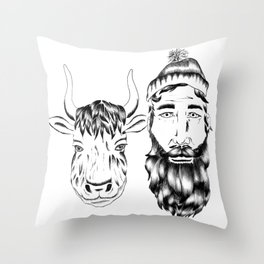 Paul and Babe II Throw Pillow