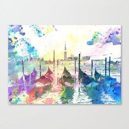 Venezia, gondole - Italy Canvas Print