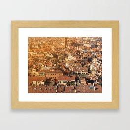 City of orange roofs Framed Art Print