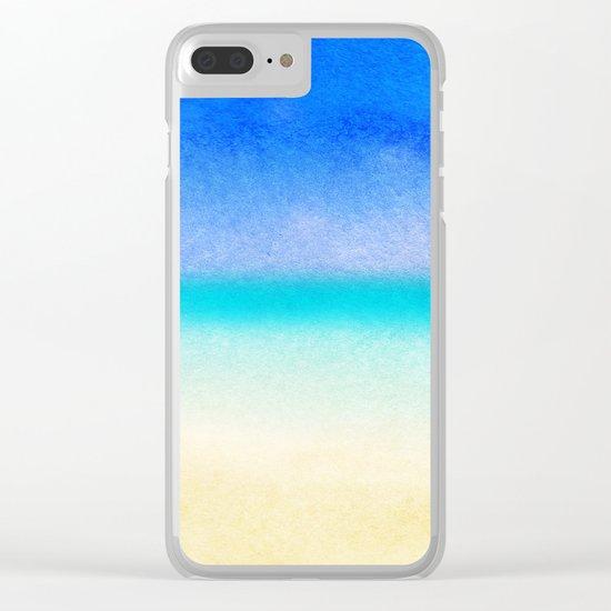 Tropical Sea #1 Clear iPhone Case