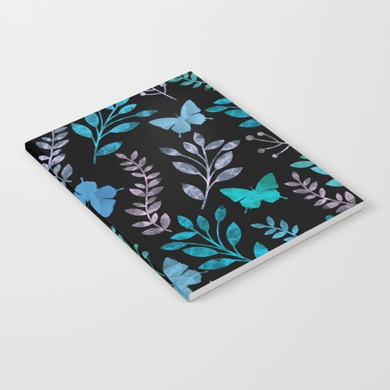 Watercolor flowers & butterflies II Notebook
