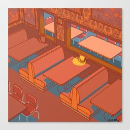 Dots Cafe, Portland Oregon Canvas Print