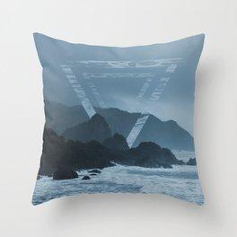 New Zealand Coast Throw Pillow