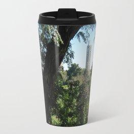 KU Campanile Through The Trees Travel Mug
