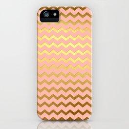 Rose Gold Chevron iPhone Case