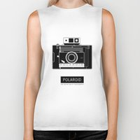 polaroid Biker Tanks featuring POLAROID by vetpan