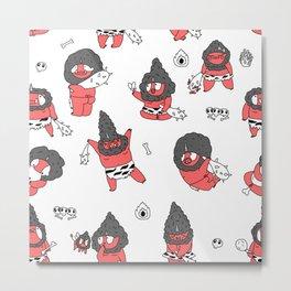 Oni, Japanese demons, colored Metal Print