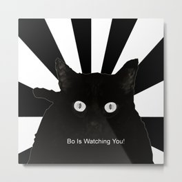 Bo Is Watching You! Metal Print