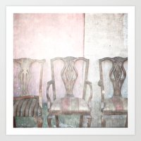 Antique Chairs Art Print